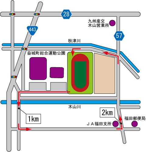 3kmコース図